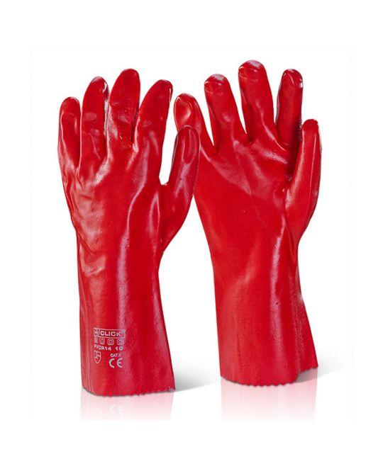 "PVC Gauntlet 14"" Red"