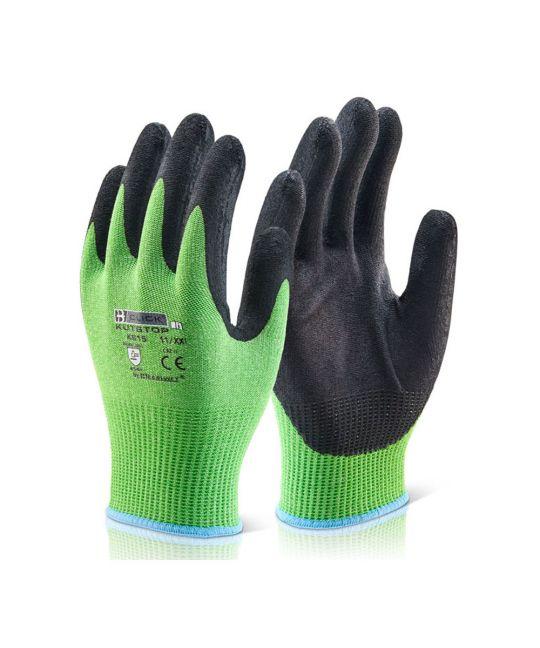 Kutstop Micro Foam Nitrile Green Cut Level 5 Glove