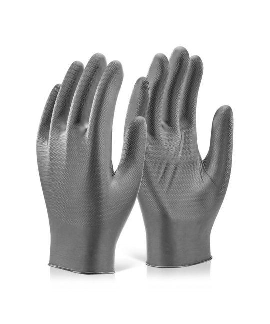 Nitrile Disposable Gripper Glove Powder Free (Box of 100)