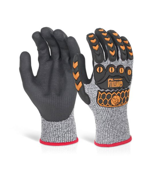 Glovezilla Nitrile Palm Coated Glove Grey