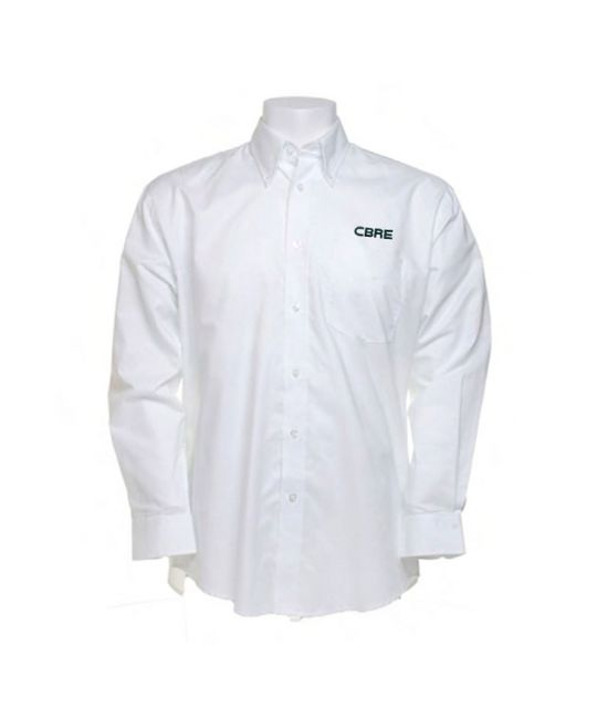 Long Sleeve Standard Workwear Oxford Shirt White