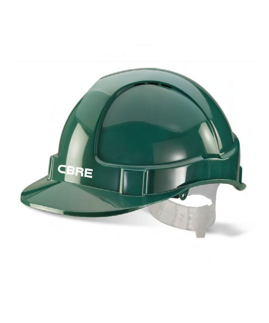 Vented Safety Helmet Green