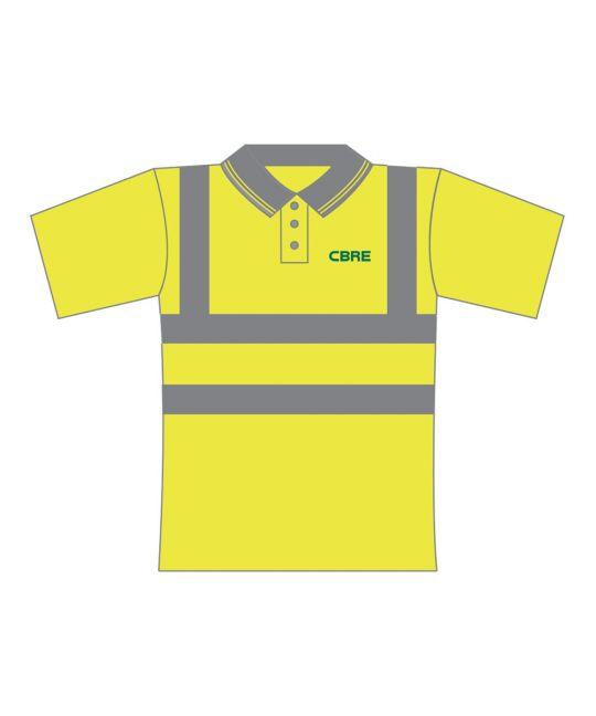 Hi-Visibility Polo Shirt Saturn Yellow
