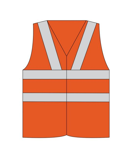 Rail Spec Hi-Visibility Vest Orange