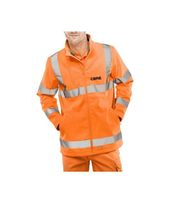Hi-Visibility Soft Shell Jacket Orange