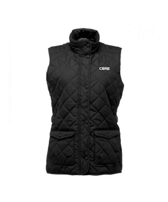 Ladies Quilted Body Warmer Black