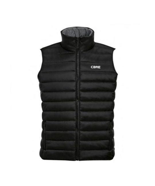 Padded Body Warmer Black With CBRE Logo