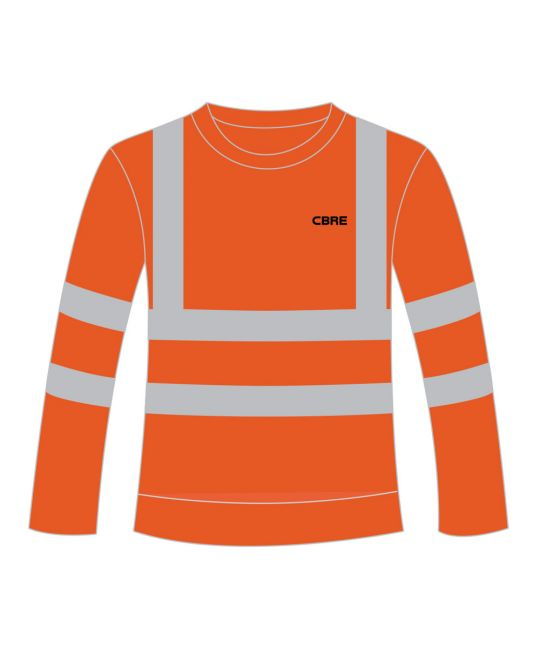 Rail Spec Hi-Visibility Sweatshirt Orange