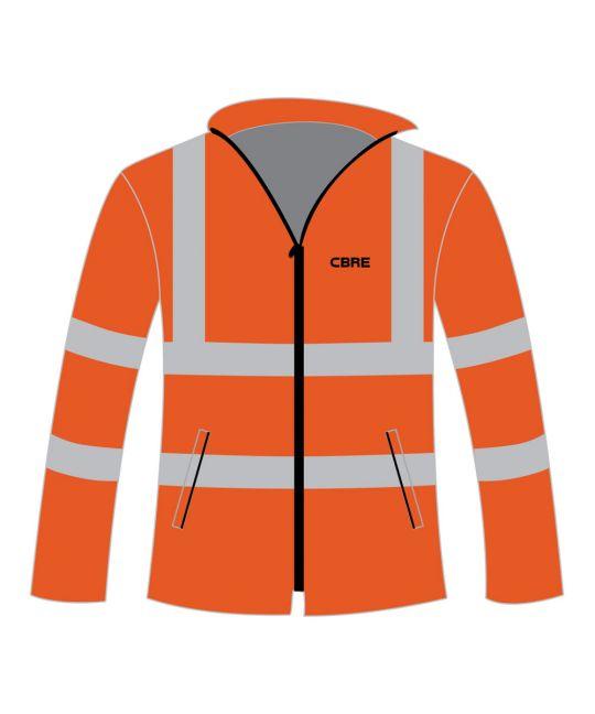 Rail Spec Hi-Visibility Fleece Jacket Orange