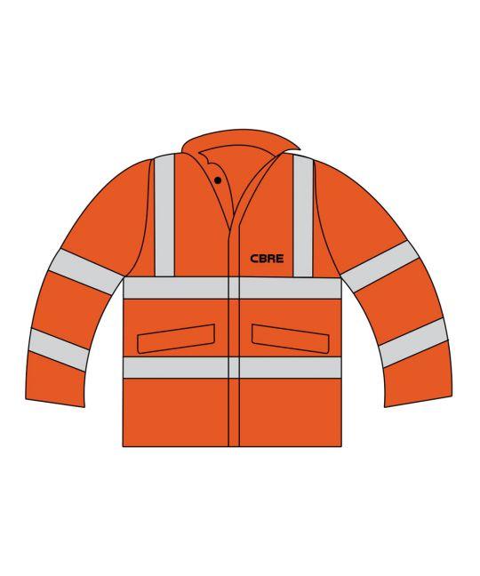 Rail Spec Ladies Executive Hi-Visibility Jacket Orange