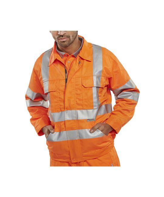 Rail Spec Hi-Visibility Constructor Jacket Orange