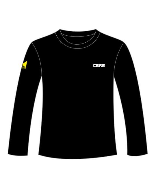 Drop Shoulder Sweatshirt Black With CBRE and Gas Safe Logos