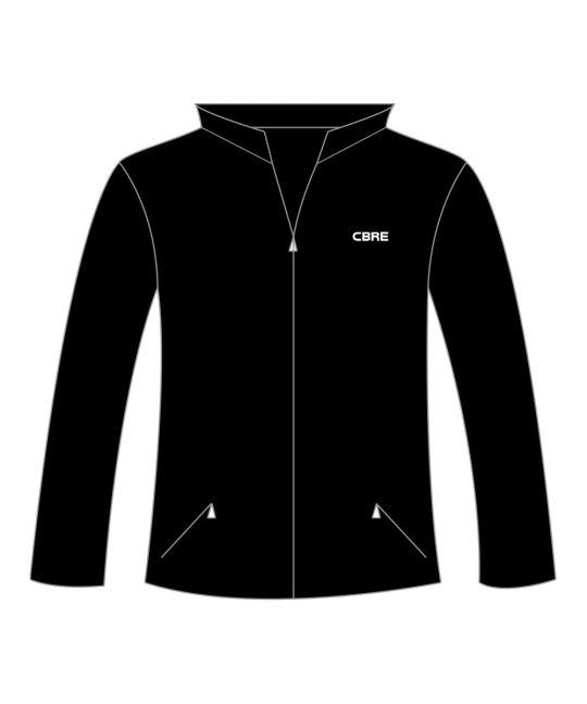 Outdoor Fleece Jacket Black With CBRE Logo