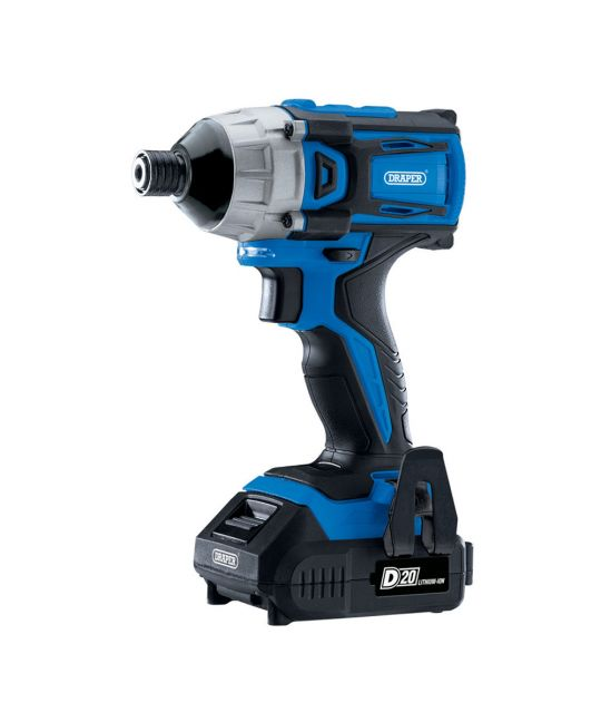 "Draper D20 Brushless 1/4"" Impact Driver With 2x 2.0Ah Batteries and Charger"