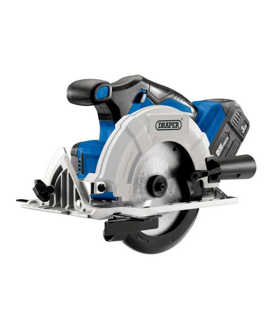 Draper D20 Brushless Circular Saw With 1x 3.0Ah Battery and Fast Charger