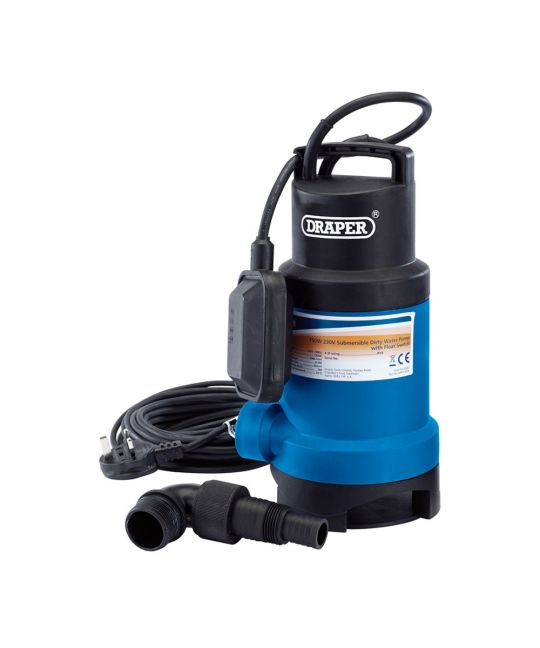 Draper 200l/min Submersible Dirty Water Pump With Float Switch (750W)