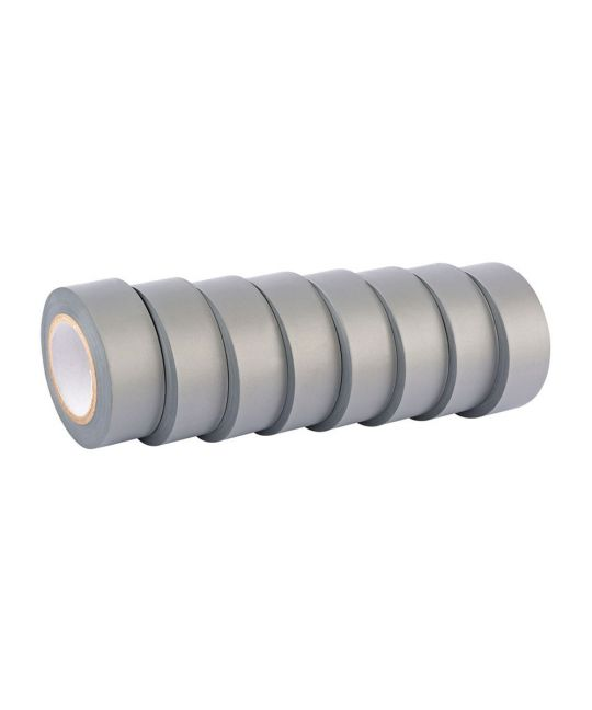 Draper Expert Grey Insulation Tape To BSEN60454/TYPE2 19mm x 10m (Pack of 8)