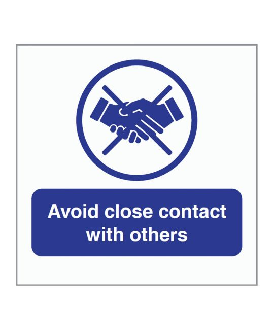 Avoid Close Contact With Others Indoor Wall Sign