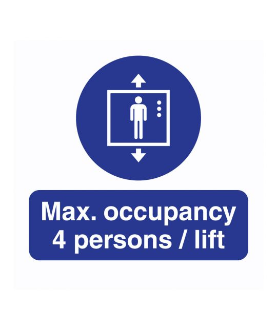 Max. Occupancy Lift Indoor Wall Sign