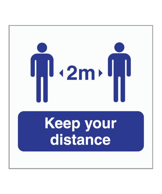 Keep Your Distance 2m Indoor Wall Sign