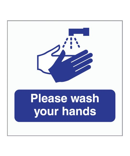Please Wash Your Hands Indoor Wall Sign