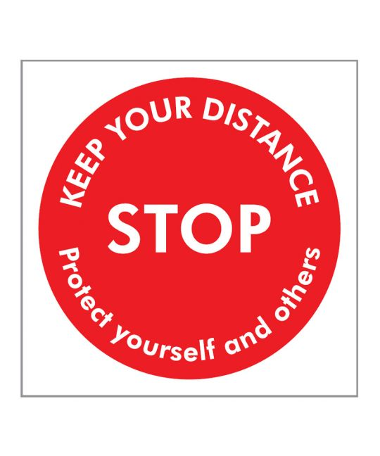 STOP Keep Your Distance Indoor Wall Sign