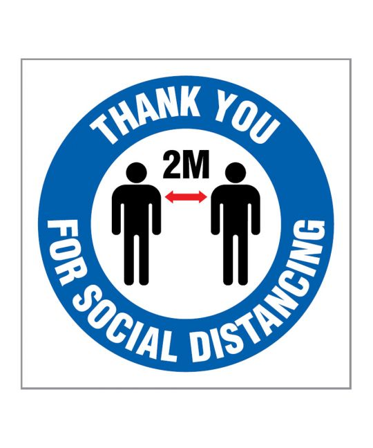 Thank You For Social Distancing Indoor Wall Sign