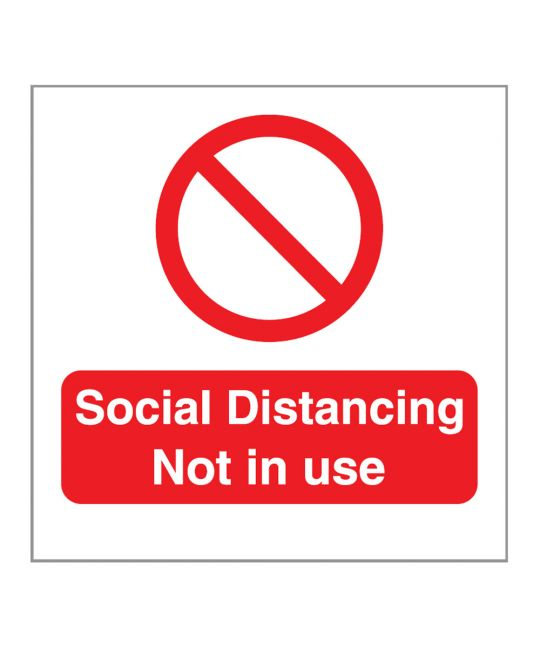 Social Distancing Not In Use Indoor Wall Sign