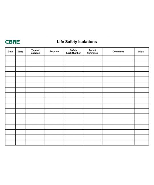 Life Safety Isolations Board