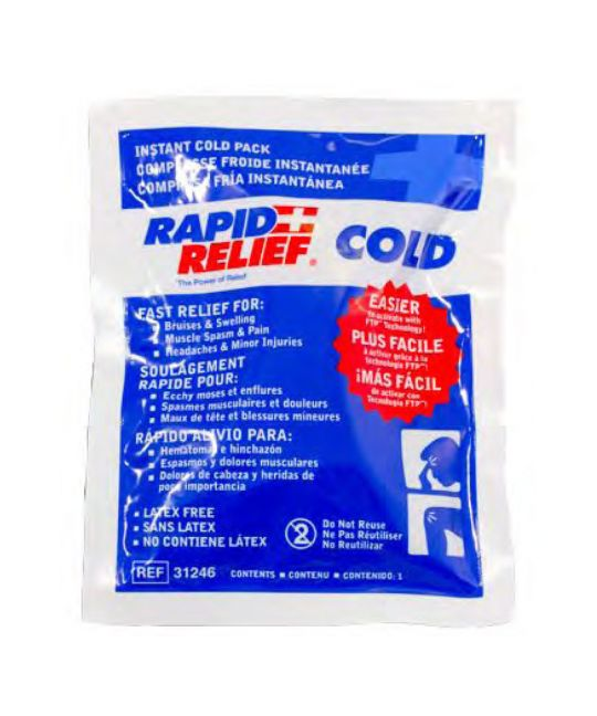 """Rapid relief Instant Cold Pack Small (4"""" x 6"""")"""